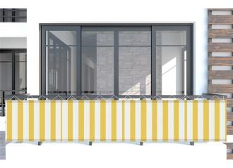 Brise vue Jaune-Blanc jaune Sauleda Sensation 2015