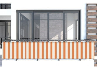 Brise vue Orange-Blanc orange Sauleda Sensation 2052