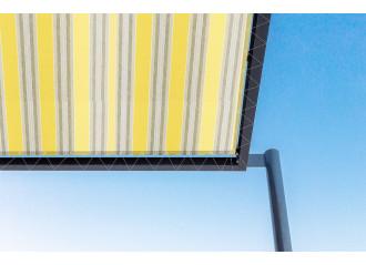 Toile de pergola sol jaune Sauleda Sensation 2126
