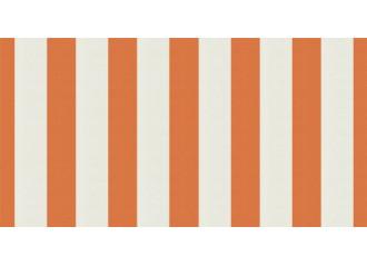 Toile au mètre Orange-Blanc Sauleda Sensation 2052
