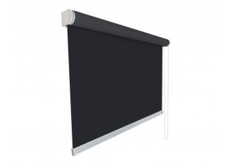 Store enrouleur toile noire 100% occultante blackout 964