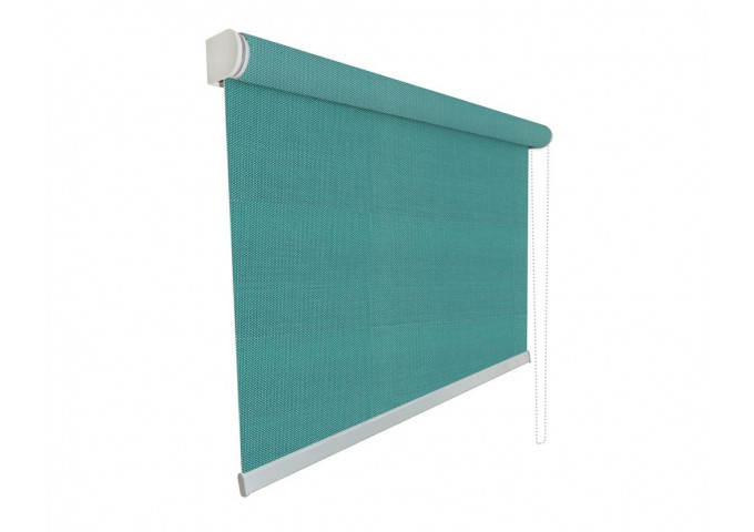 Store enrouleur sur mesure tamisant 5% vert cristal