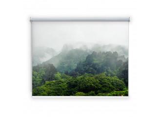 Store enrouleur occultant sur mesure paysage montagne nuages