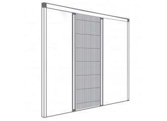 Moustiquaire plissée pour fenêtre 1 vantail ouverture reversible sur mesure