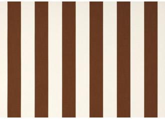 Toile au metre blanc-marron blanc dickson orchestra 8552