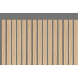 Lame occultante imitation bois en PVC pour maille 50mm
