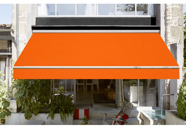 Toile de store orange Dickson orchestra 0018