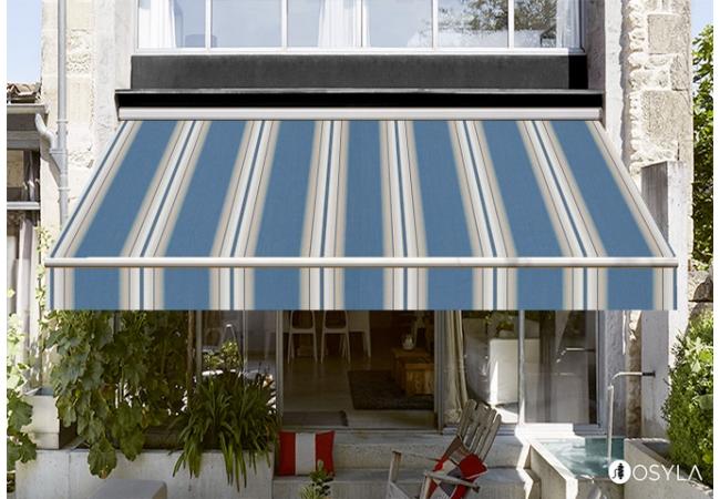 toile de store banne dickson orchestra venezia bleu sur. Black Bedroom Furniture Sets. Home Design Ideas