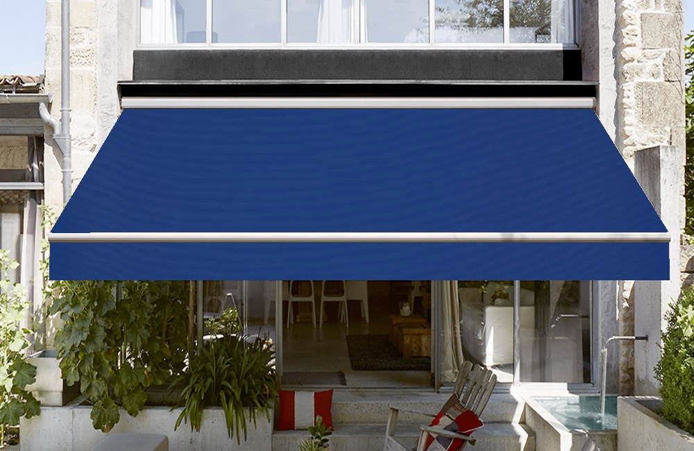 toile de store banne dickson orchestra ocean bleu osyla. Black Bedroom Furniture Sets. Home Design Ideas