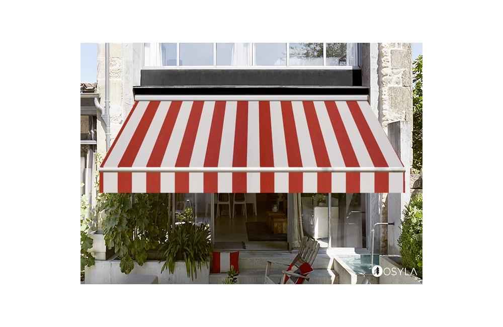 toile de store banne dickson orchestra creme rouge blanc. Black Bedroom Furniture Sets. Home Design Ideas