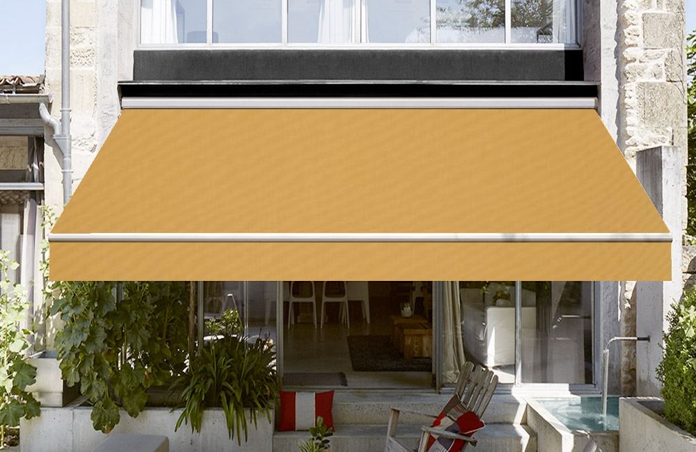 toile de store banne dickson orchestra curry orange sur. Black Bedroom Furniture Sets. Home Design Ideas